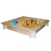Woody Fa homokozó WOODY 10313 négyzet hálóval