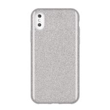 Wozinsky Glitter telefontok hátlap tok Fényes Cover iPhone XS Max ezüst tok és táska