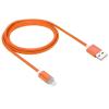 WPOWER Lightning - USB2.0 kábel LED-es állapotjelzéssel 1.0m, narancs