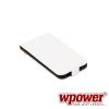 WPOWER Samsung Galaxy S5 valódi bőr telefontok, fehér (3468)