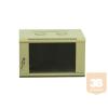 X-Tech - 6U fali rack szekrény 600x450, bézs színben