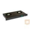 """X-Tech Ventilátor panel 19"""" rack szekrénybe, 2-es"""