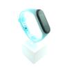 Xiaomi Mi Band 3 4 szilikon szíj - fluoreszkáló világos-neon-kék