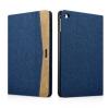 XOOMZ borító textil felülettel és PU műbőr dekorral Apple iPad Mini 4 - kék