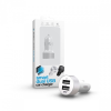 xPRO Smart Dual USB Car Charger White