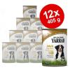 Yarrah Bio Bröckchen óriáscsomag 12 x 405 g - marha- és csirkefalatok paradicsommal & csalánnal