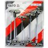 Yato YT-05615 torx és furatos torxkulcs készlet gyumi nyéllel T10-T50 (9db-os)