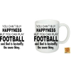 You can't buy happyness Football bögre