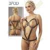 Zado Bőr láncos női body - S-L méret