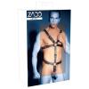 Zado ZADO - pántos, valódi bőr férfi body (fekete)