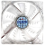 Zalman PC ventilátor, F1 LED, blue LED, 8 cm, 2.000rpm, Shark Fin Blade (ZM-F1 LED)