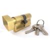 Zárbetét fordítógombos 30/30mm 3 kulcs réz