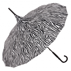 Zebra mintás pagoda esernyő