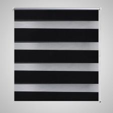 Zebra Roló 80 x 175 cm Fekete redőny