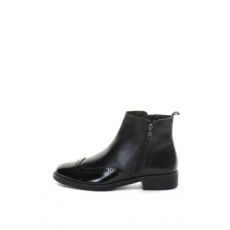 Zee Lane , Bőr bokacsizma, Fekete, 40 (9668-FW18-LEATHER-BLACK-ZNE-40)