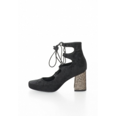 Zee Lane Collection - Velvety Lace-Up Shoes, Fekete, 36 (2162-CINIGLIA-NERO-ZNC-36)
