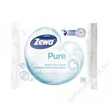 ZEWA Toalettpapír, nedves, 42db, ZEWA, pure (KHHZ28) higiéniai papíráru