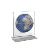 Zoffoli Földgömb asztali ARIA DESK kék metál gömb fém talp plexi váz(922)