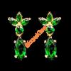 Zöld virág fülbevaló