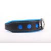 Zooleszcz NEO fényvisszaverő bőr nyakörv - Kék - 40mm x 55cm
