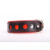 Zooleszcz NEO fényvisszaverő bőr nyakörv - Piros - 40mm x 55cm