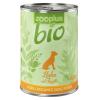 Zooplus 6x400g zooplus Bio csirke nedves kutyatáp sárgarépával