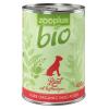 Zooplus 6x400g zooplus Bio marha nedves kutyatáp hajdinával
