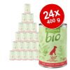Zooplus Bio 24x400g - Mix: 12 x 400 g csirke, 12 x 400 g marha