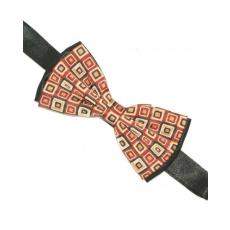 Zsorzsett szatén csokornyakkendõ - Fekete-kockás
