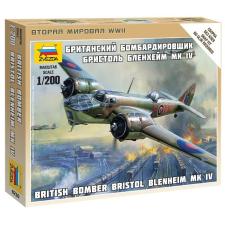 Zvezda British Bomber Bristol Blenheim MK-IV katonai repülő makett Zvezda 6230 makett figura