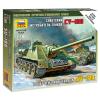 Zvezda SU-100 - Soviet Self-Propelled Gun tank harcjármű makett Zvezda 6211